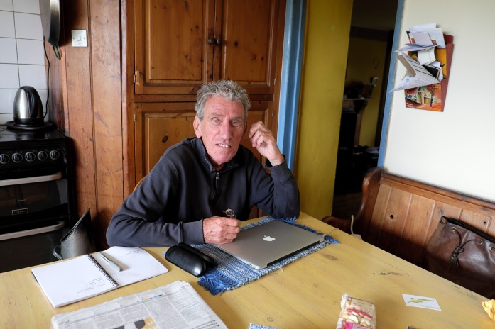 Author Chris Keil at home Garregfechan Llanwrda Wales UK